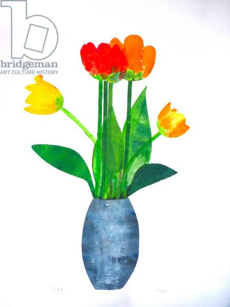 Tulips 2 ,2021(ink on paper)