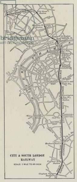 City and South London Railway (litho)