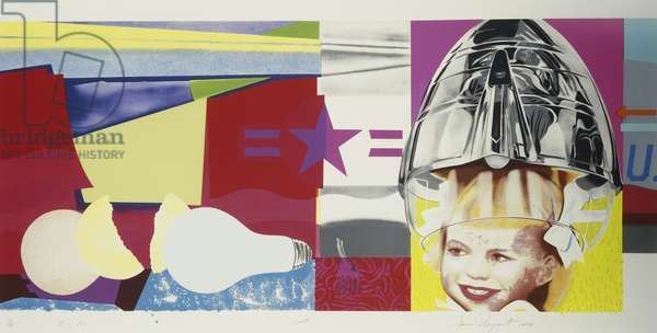 F-III: North, South, East, West (V. 56), 1974 (lithographs with screenprint in colours on Arches)