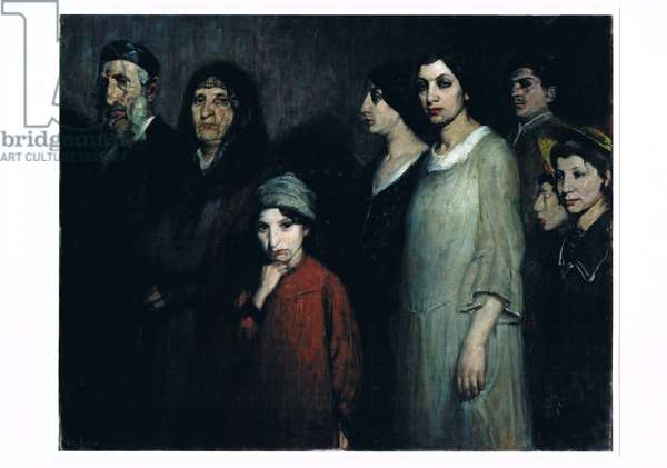 The Emigrants, c.1910 (oil on canvas)
