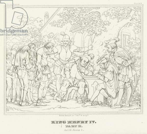 King Henry IV, Part II, Act III, Scene 2 (engraving)