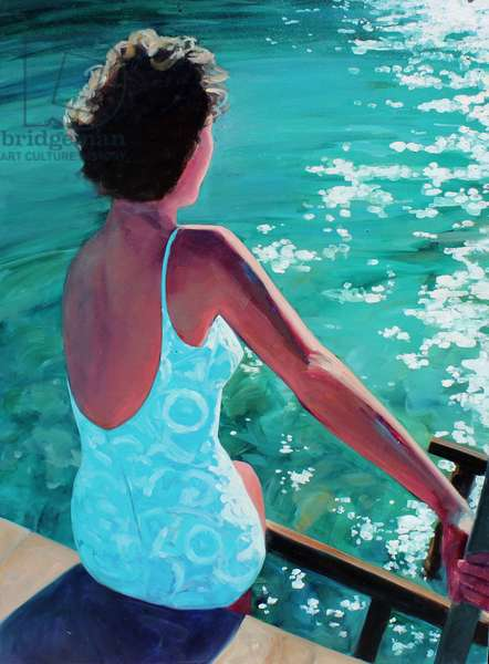 Lady at the Lake, 2015, (oil on canvas)