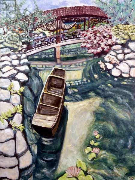 Lansu Canoe, 2019 (acrylic on canvas)