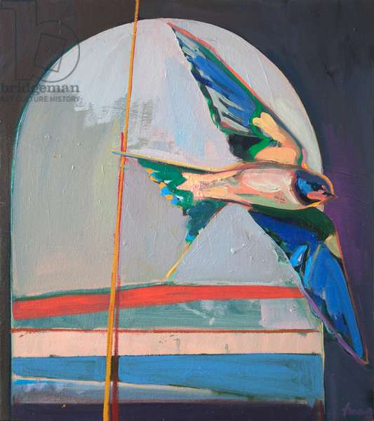 swallow, 2017 (oil on canvas)
