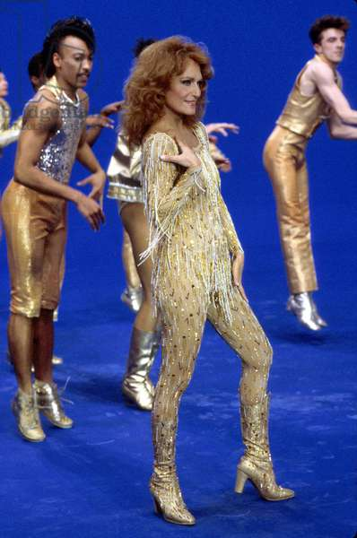 French Singer Dalida on Tv Show 1984 (photo)