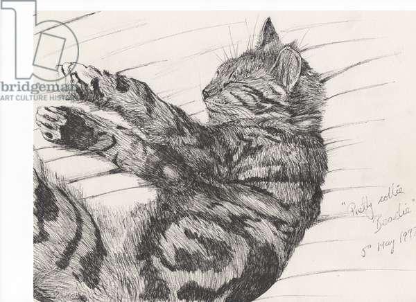 Pretty collie beastie, 1997 (ink on paper)