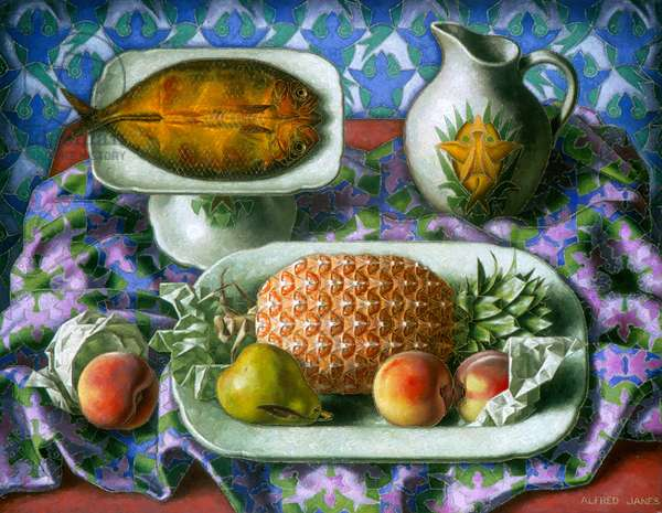 Kipper and Pineapple, 1937 (oil on canvas)