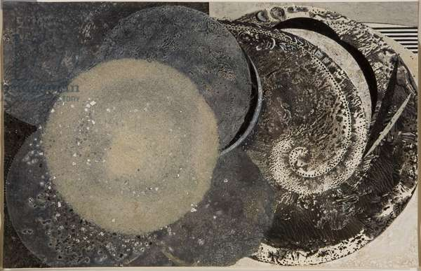 Rounds, 1985 (mixed media on paper)