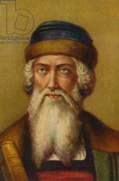 Hans Gutenberg (colour litho)
