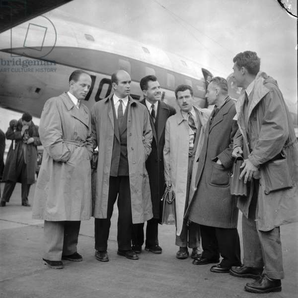 The members of French Expedition to the Andes of Patagonia, 1952