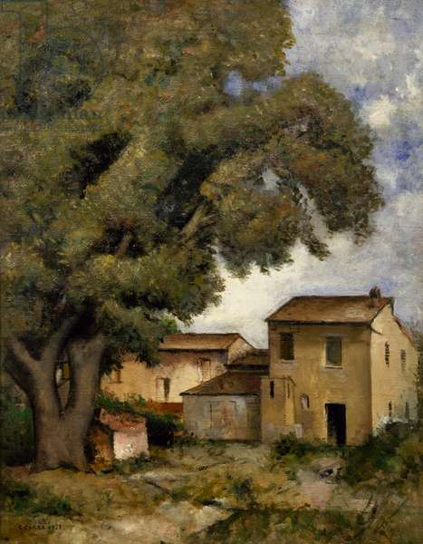 Afternoon, 1927, by Carlo Carra' (1881-1966), oil on canvas, 90x70 cm. Italy, 20th century.