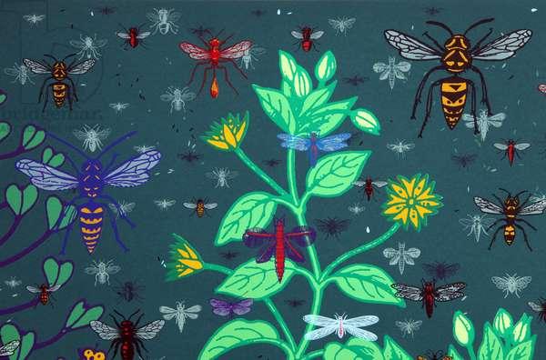 Weeds (detail), 2013, (screen print)