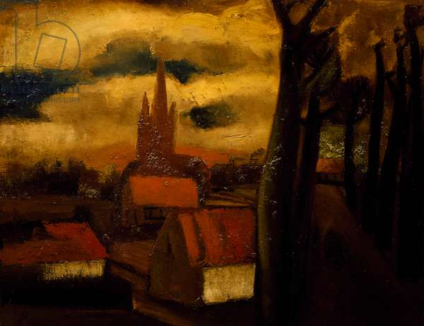 The red roofs, 1929, by Constant Permeke (1886-1952), oil on canvas. Belgium, 20th century.