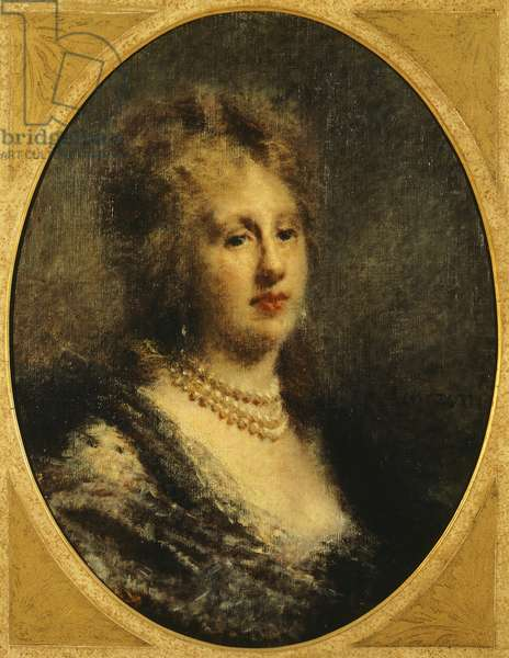 Portrait of Baroness Frankfort, by Daniele Ranzoni, 1870-1880, oil on canvas