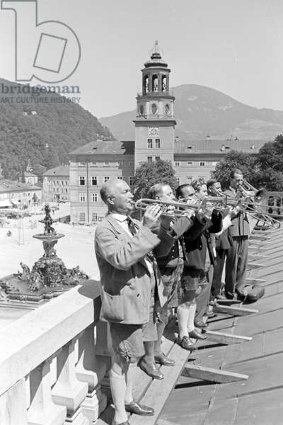 The Salzburg Mozartheum, Germany 1930s (b/w photo)