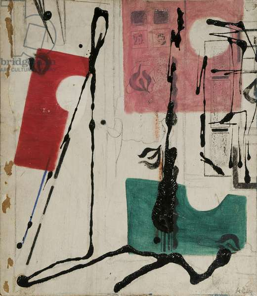 The Artist, 1958 (enamel and oil on canvas)