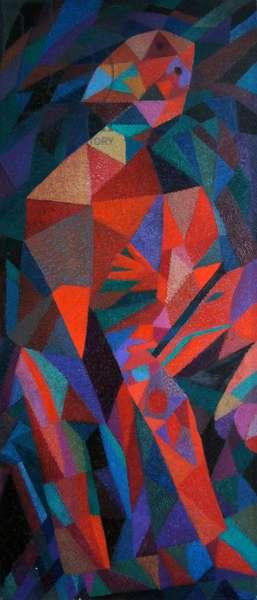 Split Tree Warrior 4, 1991 (oil on canvas)