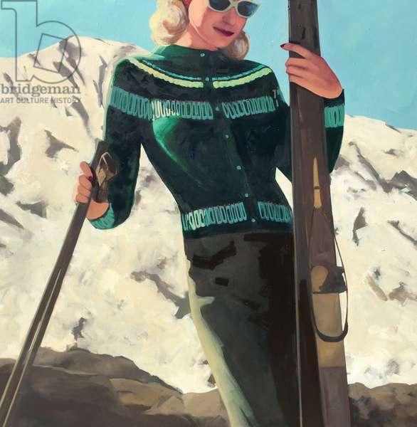 Apres Ski, 2019, (oil on canvas)