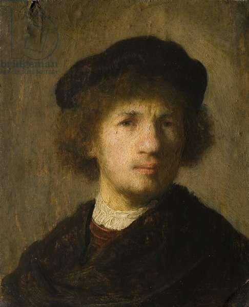 Self Portrait, 1630 (oil on copper)