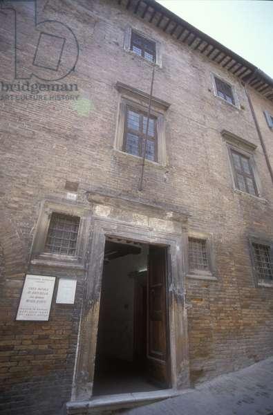 URBINO, Italy. Birth home of painter Raffaello Sanzio