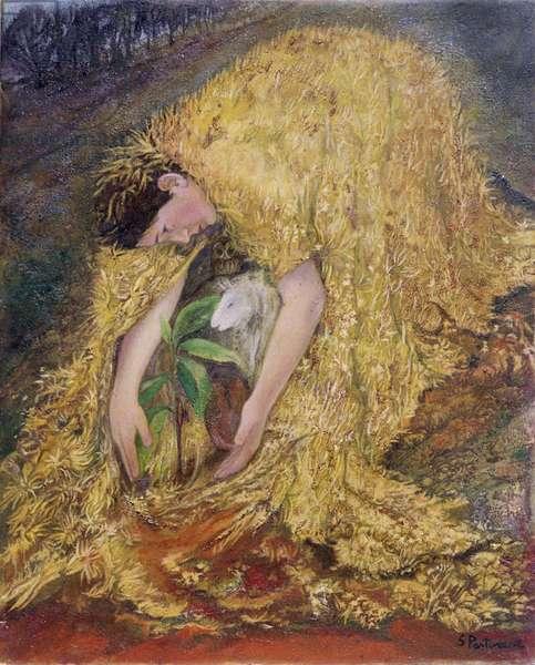 The Gardener, 2002 (oil on gessoed panel)