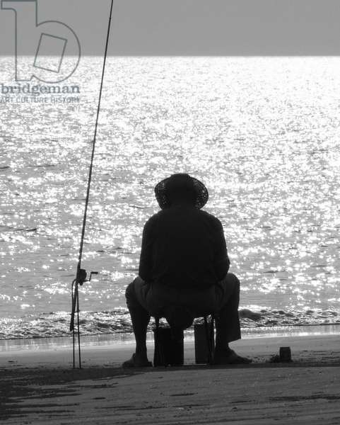 FISHING SANYA BEACH... CHINA, 2008, (PHOTOGRAPH)