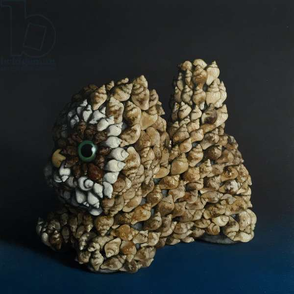 Puppy, 2011, (oil on wood)