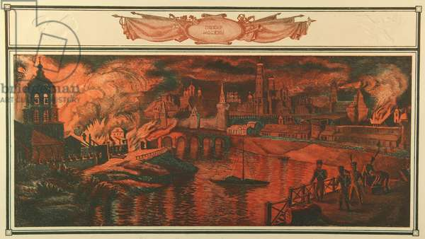 Moscow on Fire, 2006 (colour etching on paper)