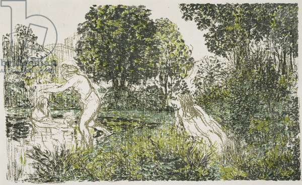 Les Baigneuses (The Bathers), 1899-1900 (lithograph in colours)