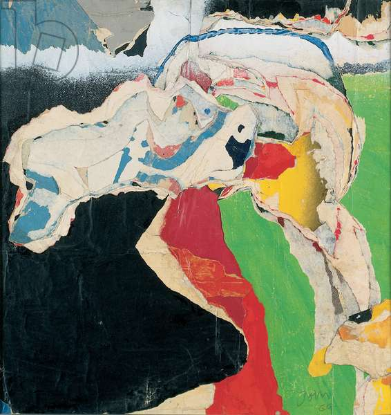 Untitled, 1969 (paper collage laid down on canvas)