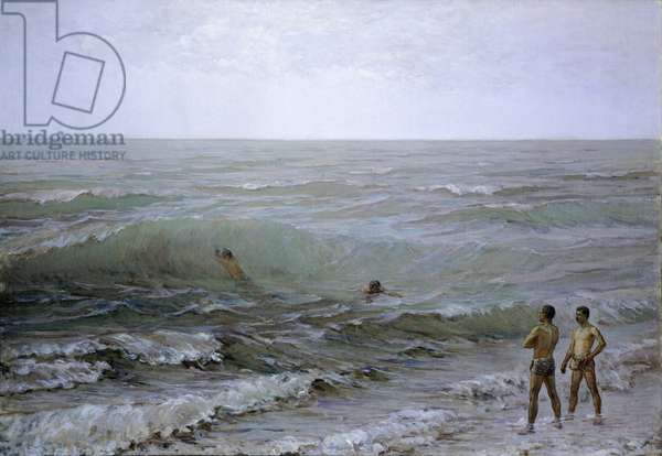 The Divers, by Gioacchino Toma, 1884-1885, oil on canvas