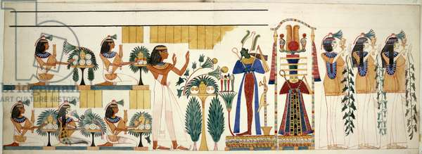 Egyptian tomb wall-painting