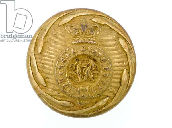 Button, Bengal Staff Corps, 1861-1876 (gilt)