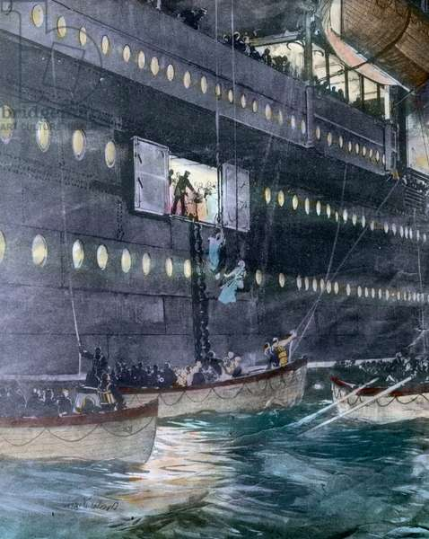 The maiden voyage of the Titanic 1912