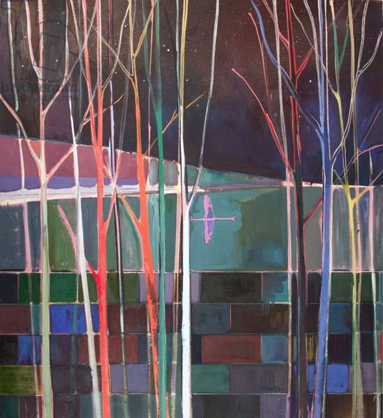 stripes, 2016 (oil on canvas)