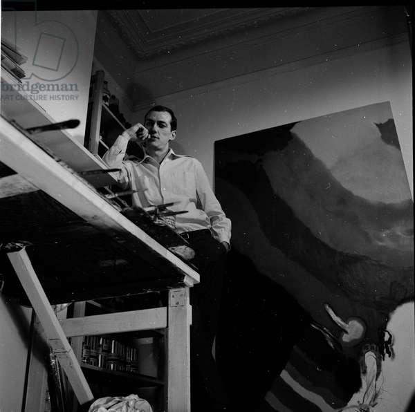 Allen Jones, 1962 (b/w photo)