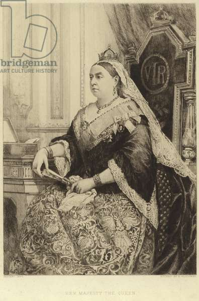 Portrait of Queen Victoria (etching)