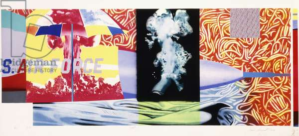 F-111 (North, South, East and West), 1974 (lithograph and screenpint in colours n Arches paper)