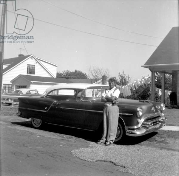 Man with 1954 Oldsmobile, 1954 , ( photograph),