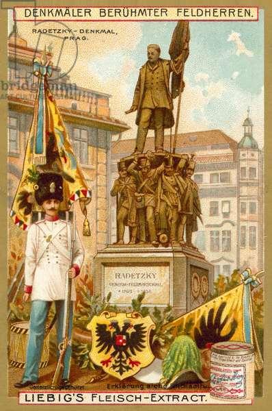 Radetsky Memorial, Prague (chromolitho)