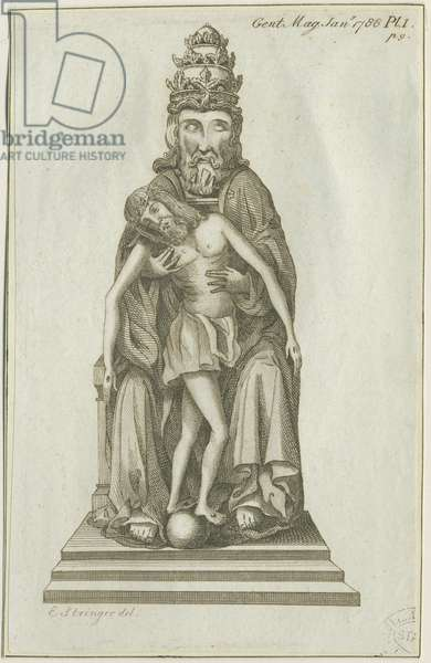 Lichfield - God holding Christ crucified: copper-plate engraving, nd [c 1780] (print)