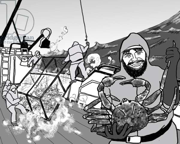Crab fishing,2018,(Photoshop)