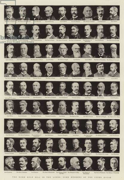 The Home Rule Bill in the Lords, Some Members of the Upper House (b/w photo)