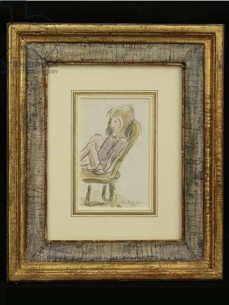 Chloe Partridge, 1994 (pencil and watercolour)