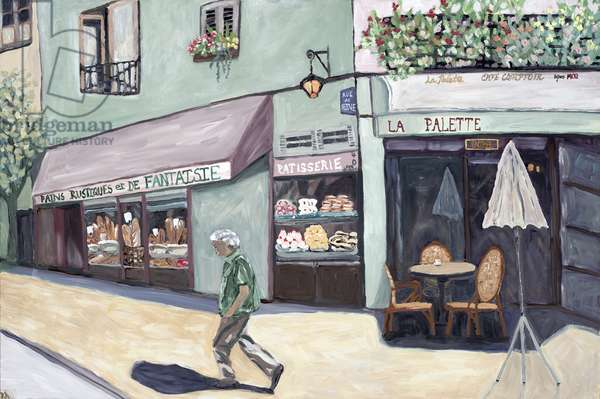 Cafe Corner, 2017, (acrylic on canvas)