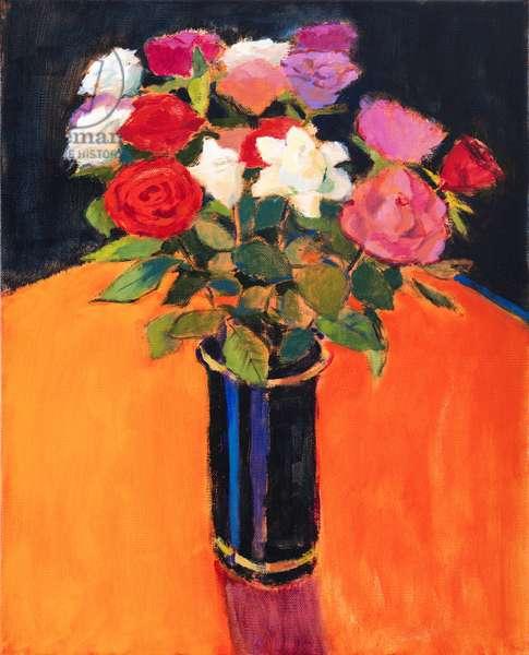 Roses, 2013 (acrylic on canvas)