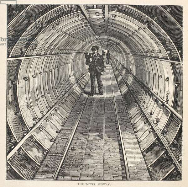 The Tower Subway, 1870 (engraving)