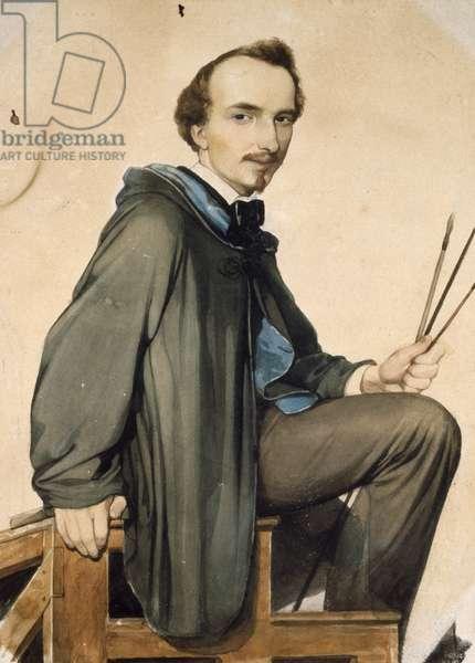 Self-Portrait, by Amos Cassioli (1832-1891)