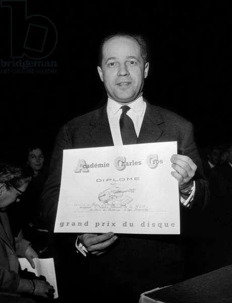 Pierre Boulez, 1964 (b/w photo)