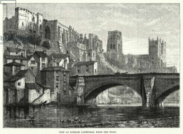 View of Durham Cathedral from the Wear (engraving)
